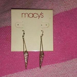 Macys pink rhinestone spike earrings